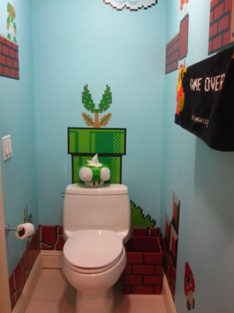 Nieuws gn lunchtip naar het toilet met mario gamersnet - Deco voor wc ...