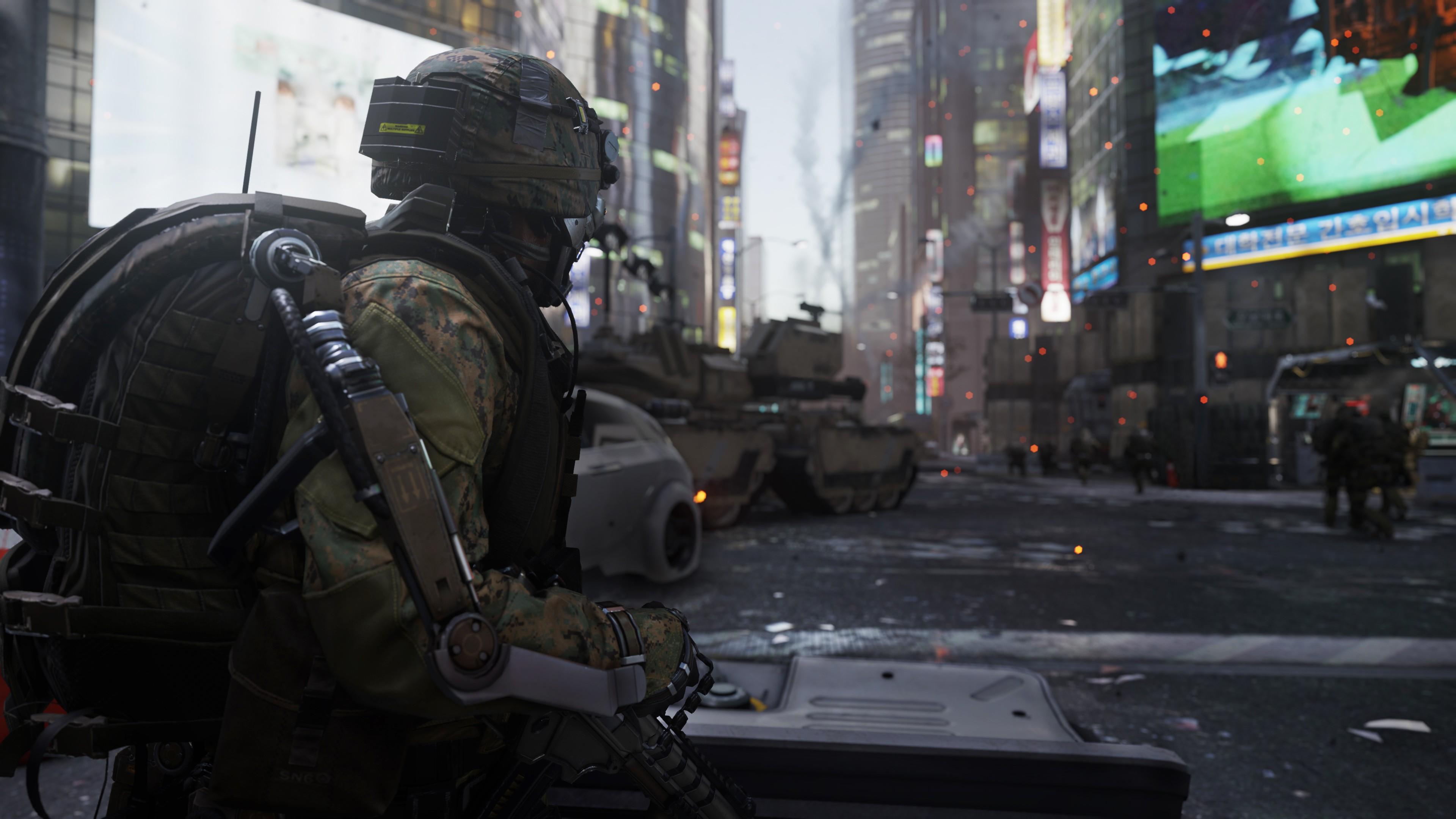мужчина оружие игра Call of Duty Advanced Warfare скачать